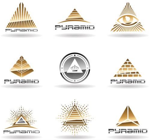 Pyramid Logo free vector