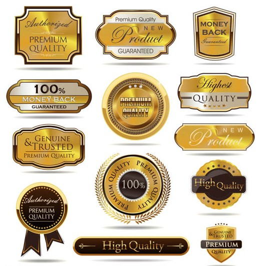 Quality Golden Labels Art vectors graphics