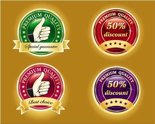 Quality Shiny Badge vector