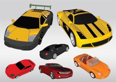 Racing Cars vectors graphics