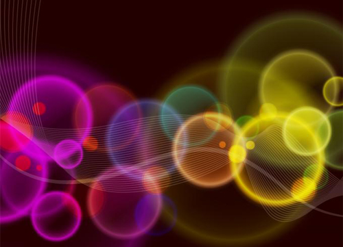 Rainbow Bubble background Illustration vector