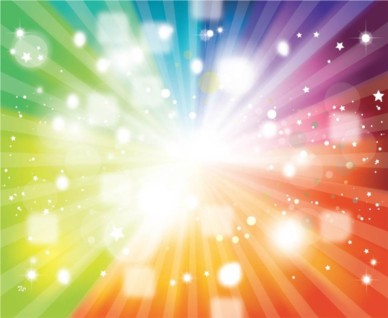Rainbow Colors Starburst background design vectors