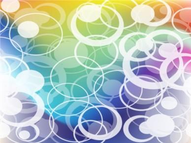 Rainbow Rings background design vectors