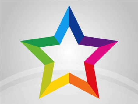 Rainbow Star vector design