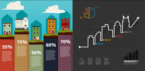 Real Estate Infographics vectors