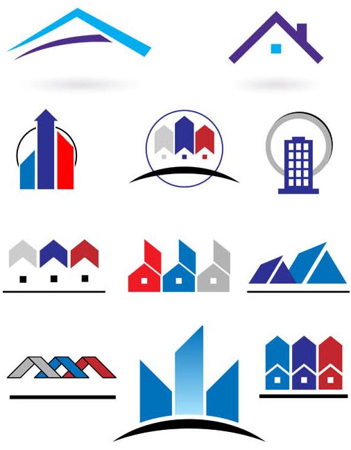 Real Estate Logo Set 12 design vectors