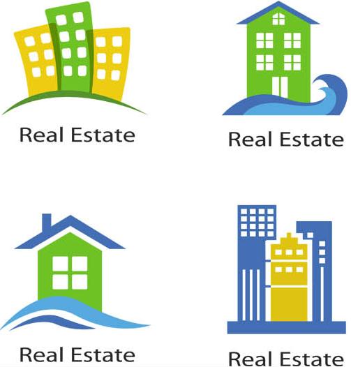 Real Estate Logo Set 13 vectors