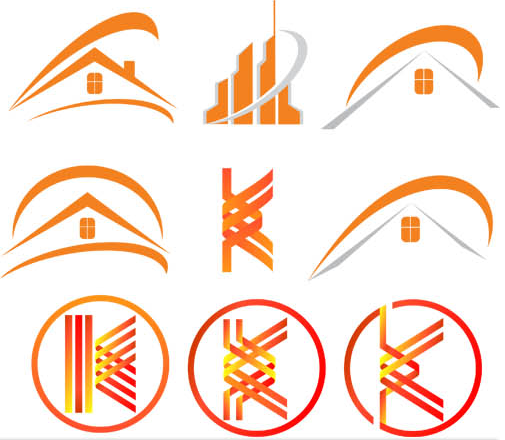 Real Estate Logo Set 14 vector graphics