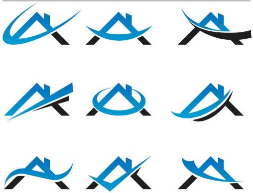 Real Estate Logo Set 2 vector design