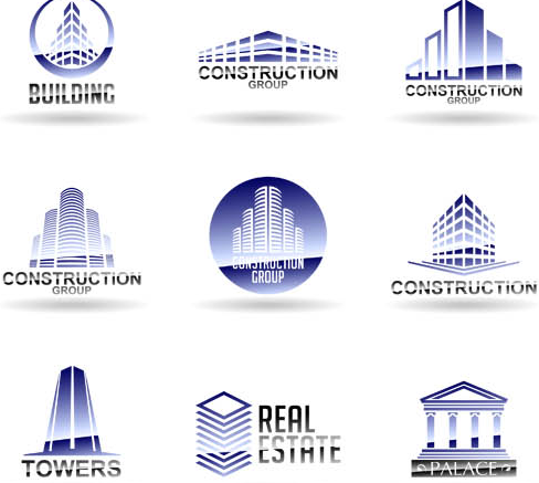 Real Estate Logo Set vector graphic