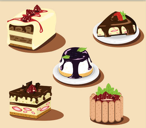 Realistic Cakes 2 vector