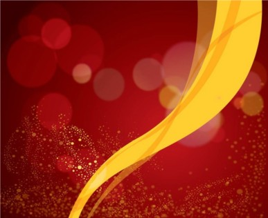 Red Background Yellow Ribbon vector set
