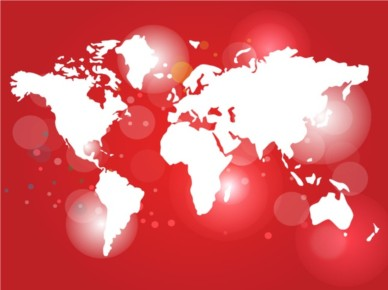 Red World Map vectors