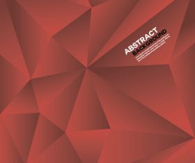 Red geometric polygon background vector