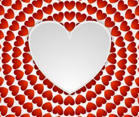 Red heat pattern with white heart vectors