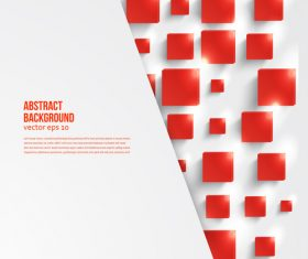 Red square with paper background vectors 03