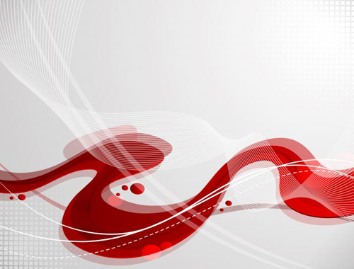 Red waves background vectors material