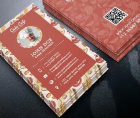 Retro Cake Shop Business Card PSD Template