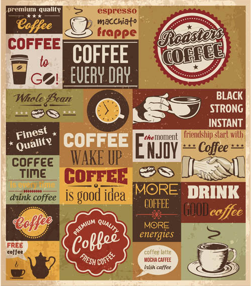 Retro Coffee Symbols vector