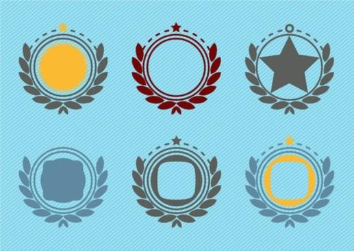 Retro Emblem Badge Decorations vector