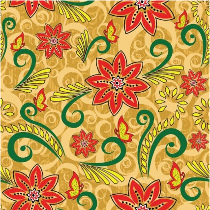 Retro Floral Seamless Pattern vectors graphic free download