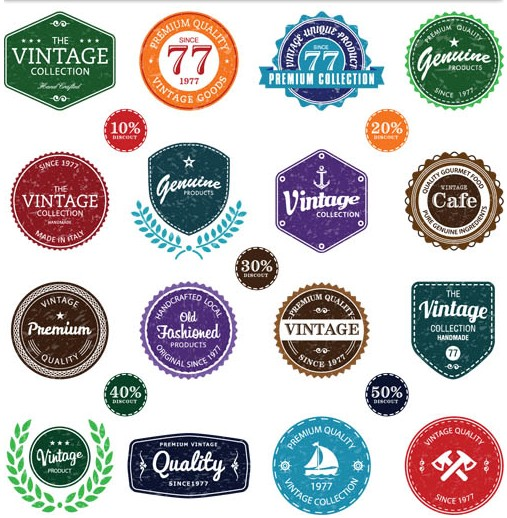 Retro Labels graphic vector
