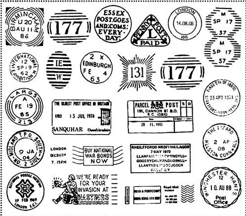 Retro Postal Stamps 2 vector