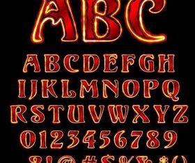 Retro classic alphabet font vector