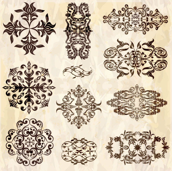 Retro floral accessories vector