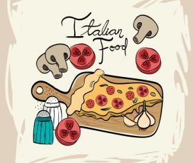 Retro italian restaurant menu template vectors 01
