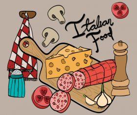 Retro italian restaurant menu template vectors 02