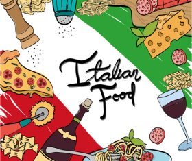 Retro italian restaurant menu template vectors 03