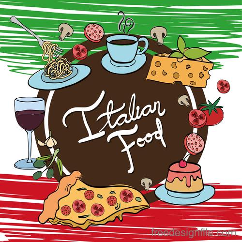 Retro italian restaurant menu template vectors 05