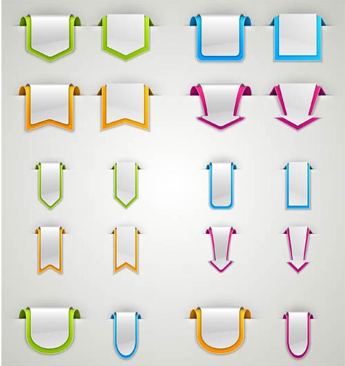 Ribbons Elements vector