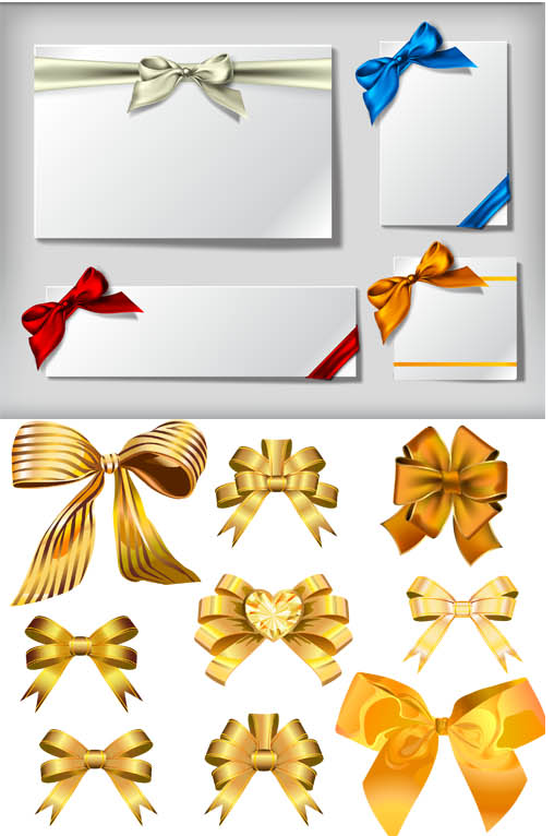 Ribbons with Bows vector graphics