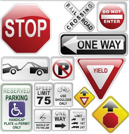 Road Signs Vector vector