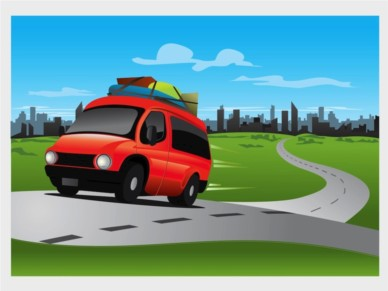 Road Trip Illustration vector graphic