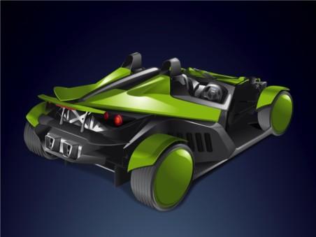 Roadster Race Car Vector