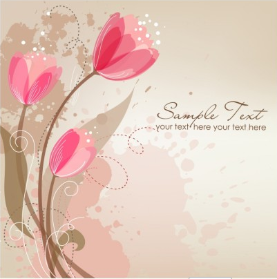 Romantic Flower Background Free Vector Design Free Download