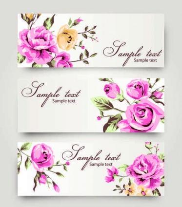 Romantic Rose pattern background vector design
