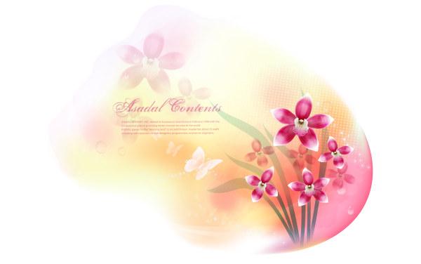 Romantic Valentine heart background 1 Illustration vector