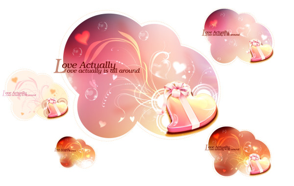 Romantic Valentine heart background 2 vector