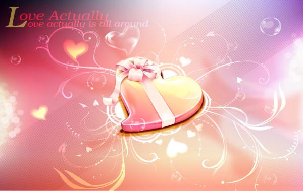 Romantic Valentine heart background 3 vector