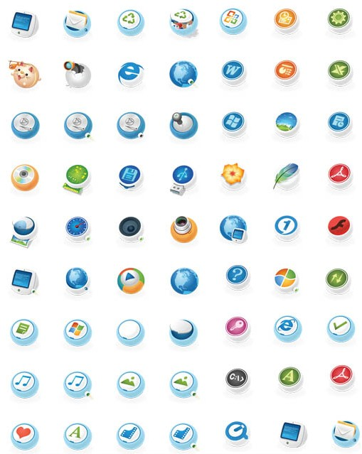 Round System Icons vector