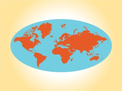 Round World Map vector