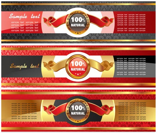 Royal Style Banners vector