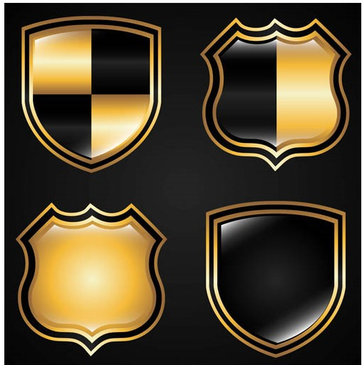 Royal Style Shields vector