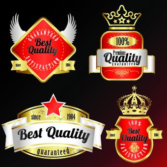 Royal glass labels 2 vector