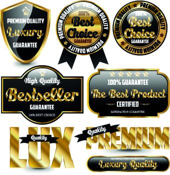 Royal glass labels 3 vector