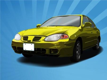 Rusty Car vector